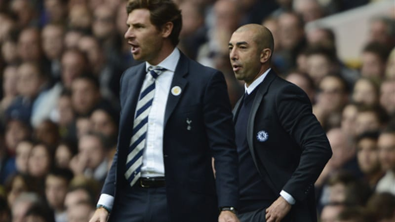 Roberto Di Matteo's side were in danger of suffering their first domestic defeat of the season at the hands of former boss Andre Villas-Boas after Tottenham took a 2-1 lead in the second half [Reuters]