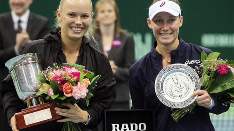 The win in Moscow gives the Dane a 3-3 head-to-head record against Australian Stosur [EPA]
