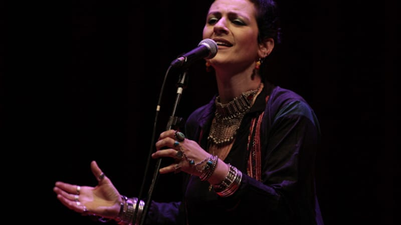 "Listening to and watching Palestinian singer Rim Banna perform, ""you can hear Umm Kulthum in Egypt, Edith Piaf in France, Joan Baez in the US, or Mercedes Sosa in Argentina"" [EPA]"