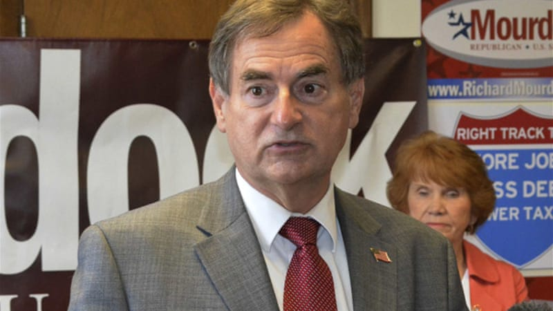 US Senate candidate Richard Mourdock came under fire last month for comments about pregnancy and rape [Reuters]