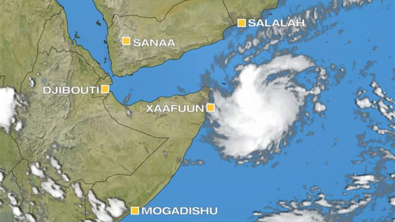 Tropical Storm Murjan is the first storm to form in the Arabian Sea this year [AlJazeera]