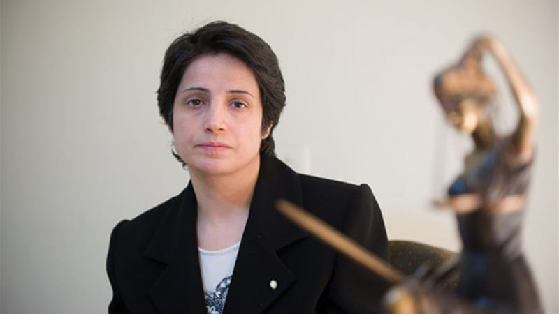 Iran cancelled the delegation's visit after they insisted upon visiting Sotoudeh, pictured, and Panahi in jail [AFP]