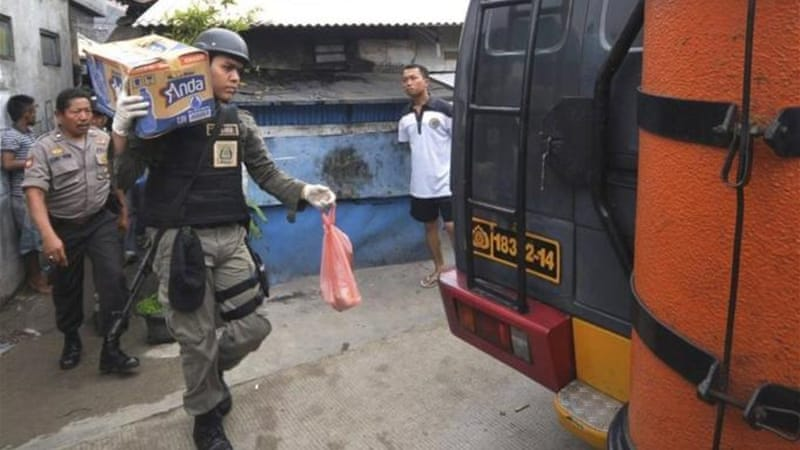 Police seized a number of bombs, explosive materials, a bomb-making manual and ammunition [Reuters]