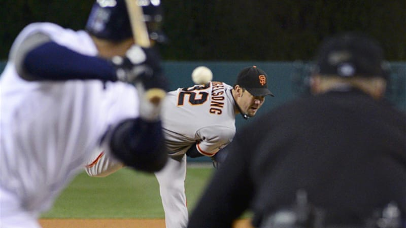 The Giants became the first team to take consecutive shutouts in the Series since 1966 – no team has ever blown such a 3-0 lead in the World Series [Reuters]
