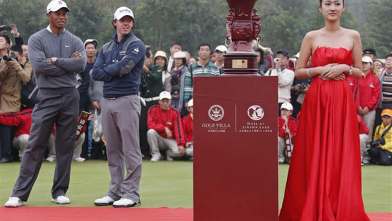 The exhibition game  marked the first time the two golfers had played head-to-head without other competitors – and with the pay check rumoured to be a cool $2m between them, it will probably not be the last time [Reuters]
