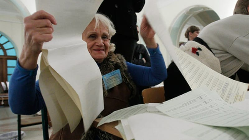 More than 3,700 foreign observers were in Ukraine to monitor the vote [Reuters]