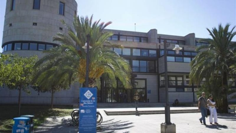 UIB, which is located in Palma, has 16,400 students [AFP]