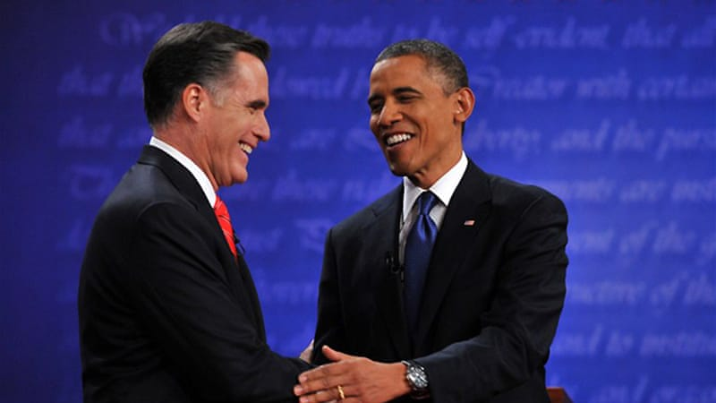 Romney's biggest lie was a lie told in advance - an act of projection accusing Obama of being the liar in the debate, weeks before the debate was even held [AFP]