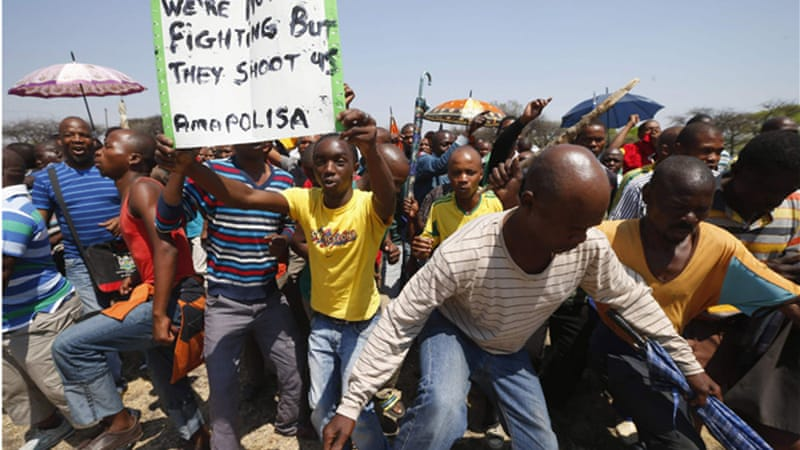 South Africa has been beset with mass strikes across various sectors [Reuters]