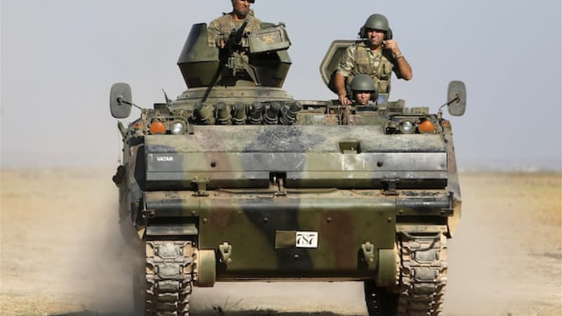 Turkey has stepped up its military presence near Akcakale since the shelling earlier this week [Reuters]