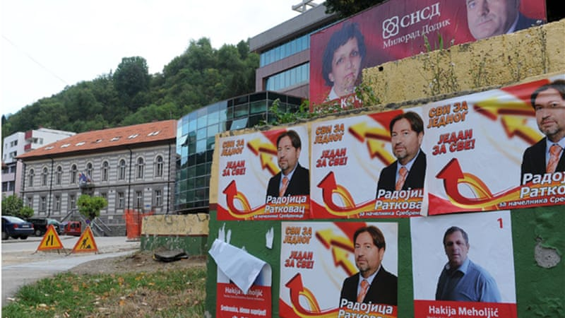 Recent local polls brought back memories of Bosnia's violent past due to various candidates with different views [AFP]