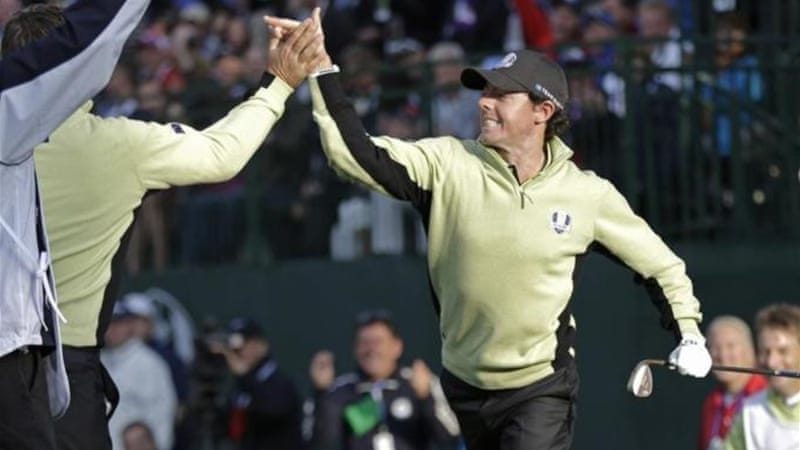 After winning the Ryder Cup with Europe, McIlroy plans to be the continent's top golfer [AP]