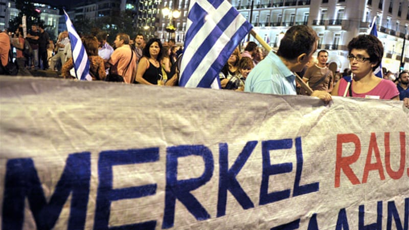 There is widespread anger in Athens against the terms for the bailout imposed by Germany [AFP]