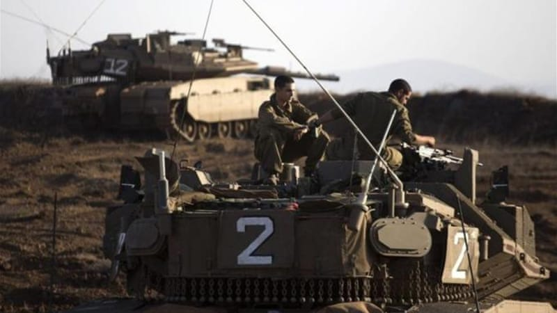 Israel used Merkava 4, a battle-tank, along the border in order to hit relatively close-range targets [AFP]