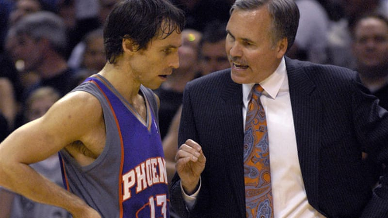 D'Antoni coached Lakers point guard Steve Nash in Phoenix for five seasons where Nash won two MVP awards [EPA]
