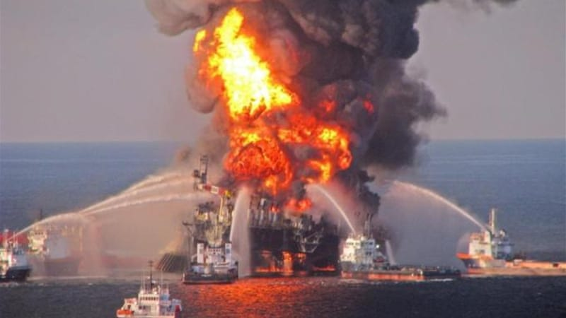 The Deepwater Horizon oil well released nearly five million barrels of crude oil into the Gulf of Mexico [EPA]