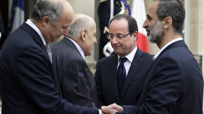 France has officially recognised the newly formed Syrian National Coalition [AFP]