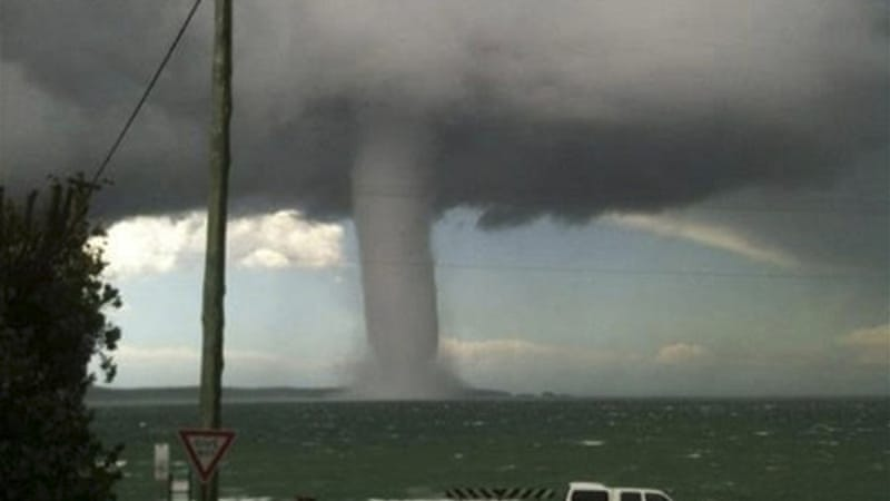 waterspout spotted in new south wales australia news al jazeera