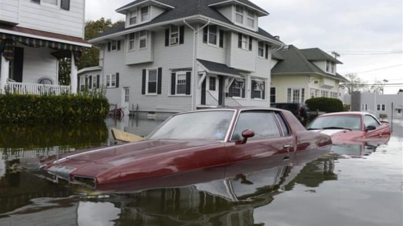 Hurricane Sandy - known as the 'frankenstorm' - has caused tens of billions of dollars in damage in the USA alone [EPA]