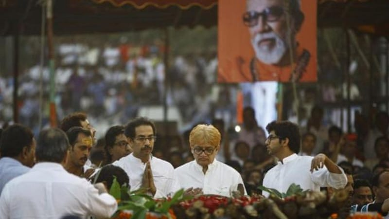 Mmore than 1.5 million people attended Thackeray's funeral in Mumbai [AFP]