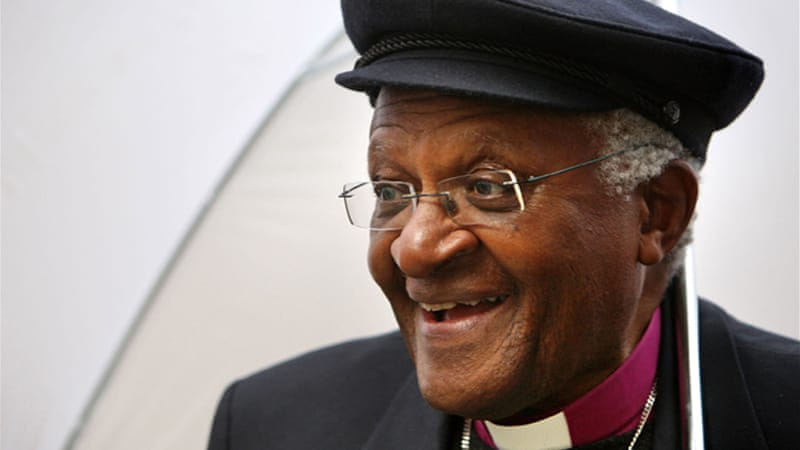 "Tutu called the decision to not grant the Dalai Lama a visa as an act ""worse than the apartheid government"" [Reuters]"