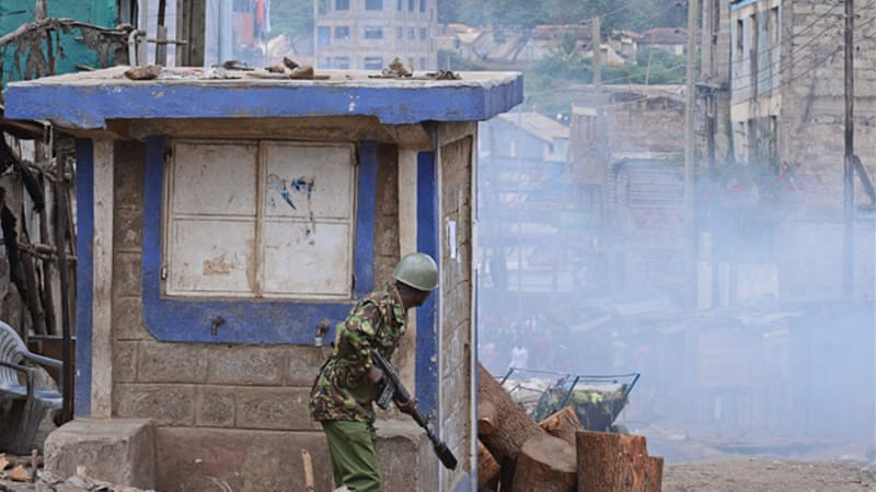 Kenyan security forces fired tear gas and made arrests in order to clamp down on the demonstration [AFP]