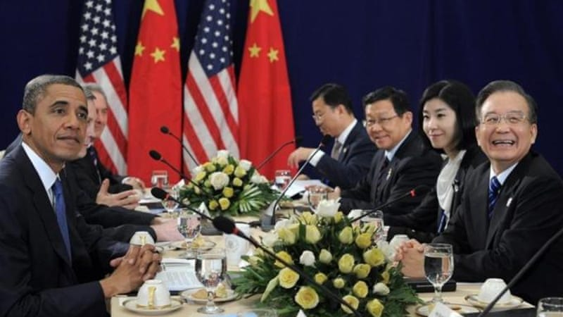 Obama met Chinese Premier Jiabao for bilateral talks on the side of the summit [AFP]