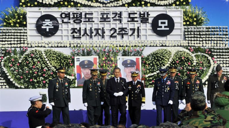 "Seoul plans to open a ""victorious battle memorial hall"" on Yeonpyeong Island to mark its anniversary [AFP]"