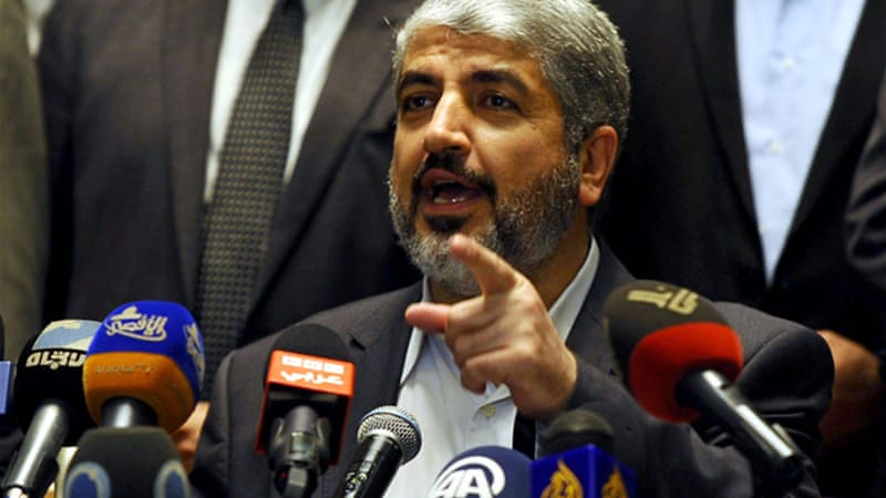 Khaled Meshal, leader of Hamas, wants free movement for Gazans as part of the truce deal [Reuters]