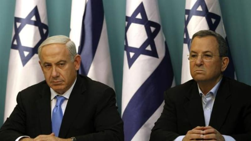 Barak, right has served as Netenyahu's defence minister since 2008 [AFP]