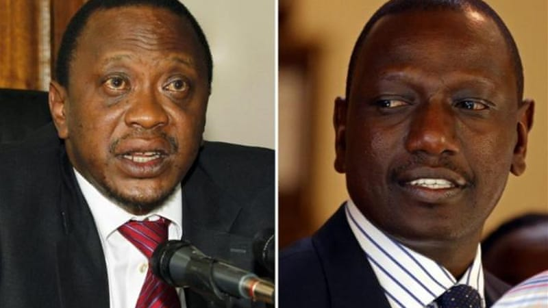 Both Uhuru Kenyatta (left) and Ruto are wanted by the ICC for crimes against humanity [Reuters]