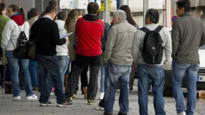 Spain's unemployment rate jumped to the highest  in 36 years with the rate expected to continue escalating [AFP]