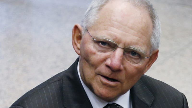 German finance minister Wolfgang Schauble has compared Greece's situation to eastern Europe in the 1990s [Reuters]