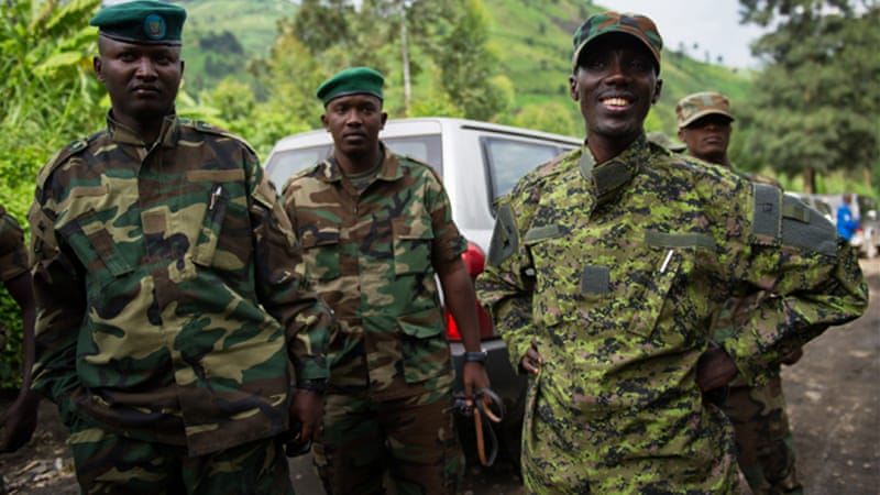 M23 military chief Sultani Makenga, right, accused UN troops of denying his fighters access to supplies [AFP]