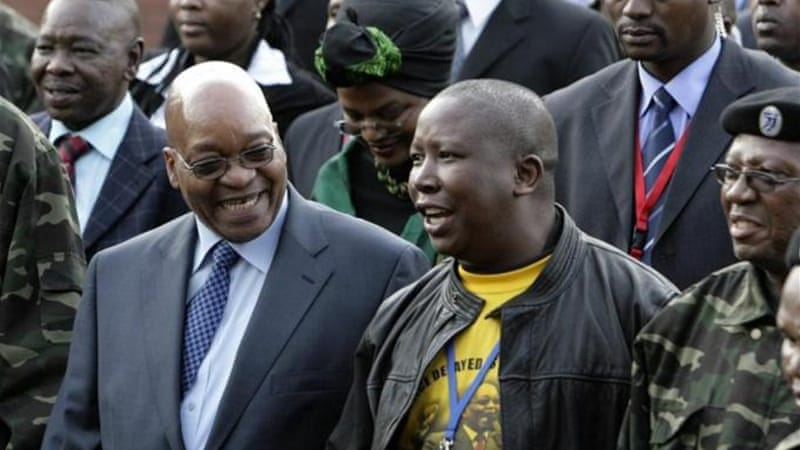 Malema, right, was President Jacob Zuma's, left, main supporter during his bid for the ANC leadership in 2007 [Reuters]