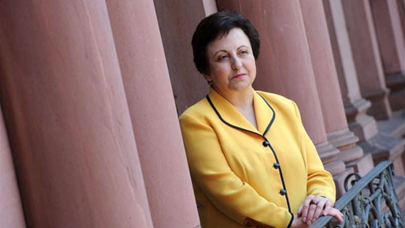 Shirin Ebadi spearheads a campaign to block Iranian satellite broadcasters on the grounds that Iran censors channels like BBC Persian [EPA]