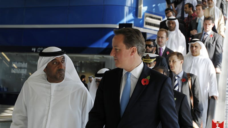 Cameron said discussions with the UAE and Saudi Arabia would show 'respect and friendship' [Reuters]