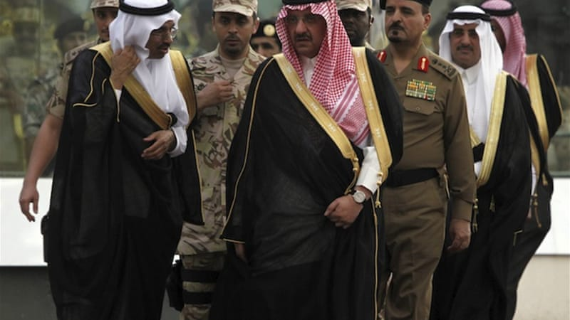 Bin Nayef, center, has effectively led the kingdom's security agencies since 1999 [Reuters]