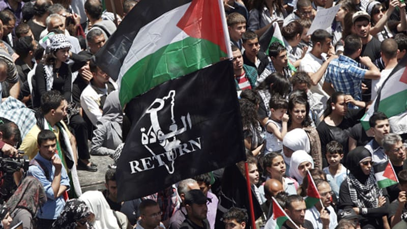 Palestinians commemorate the Nakba every year on May 15 to mark the exodus of over 750,000 Palestinians after the creation of the state of Israel [EPA]