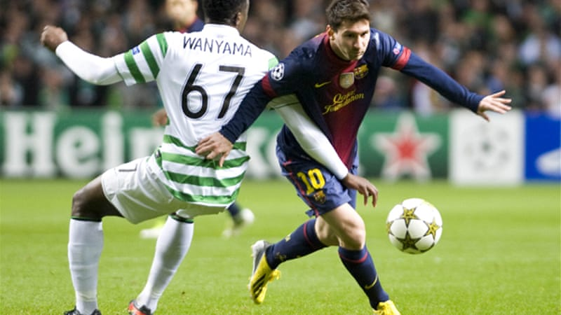 Barcelona squandered a chance to reach the Champions League last-16 after a surprise 2-1 defeat by the modest Scottish champions Celtic on Wednesday night [EPA]