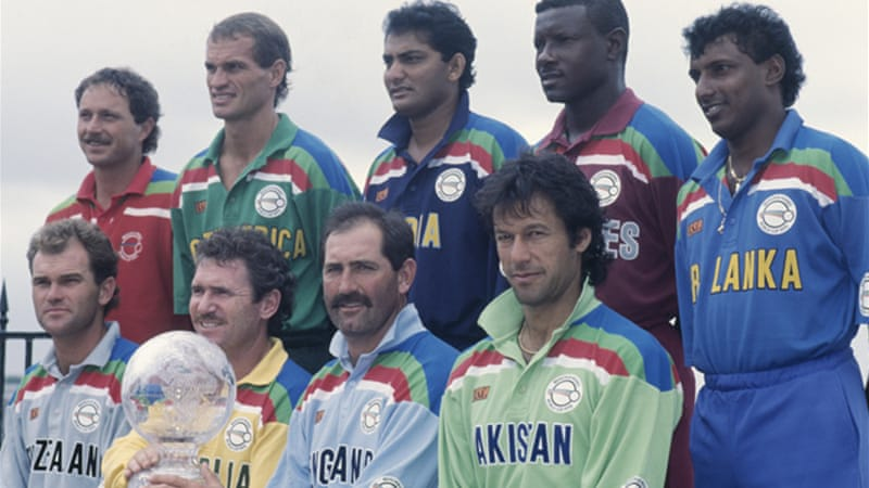 The court ruled there was no evidence against Azharuddin, pictured above centre at the 1992 Cricket World Cup, and that the Board of Control for Cricket in India (BCCI) had acted unilaterally [GALLO/GETTY]