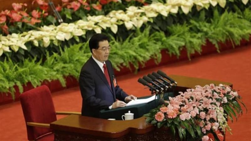 Just like his predecessor Jiang Zemin, Chinese President Hu Jintao is bound to remain at least for another two years as head of the Party's all-powerful Central Military Commission [AP]