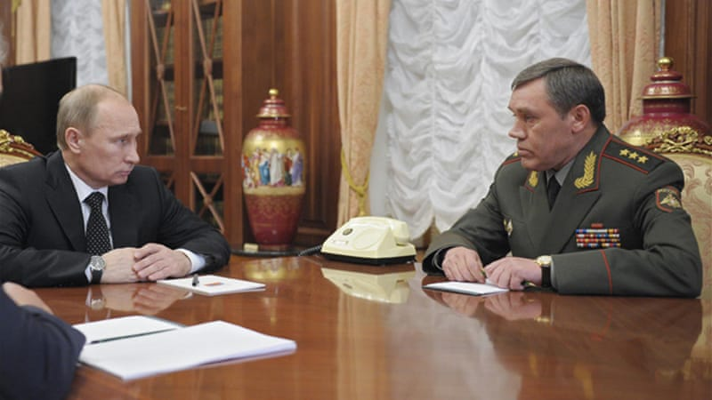 Gerasimov, a veteran of the Soviet and Russian armies, has been deputy chief of the general staff since 2010 [Reuters]