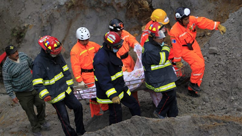 Rescuers are turning their attention to recovering bodies of those killed in the earthquake [Reuters]