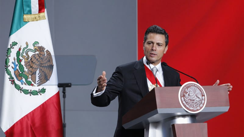 The opposition has accused the Mexican president of abusing his power to help the ruling PRI [Reuters]