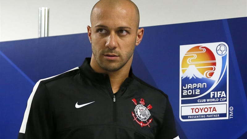 Corinthians skipper Alessandro, above, said the players had banished thoughts of a potential final against Chelsea from their minds in order to focus on Al Ahly [EPA]