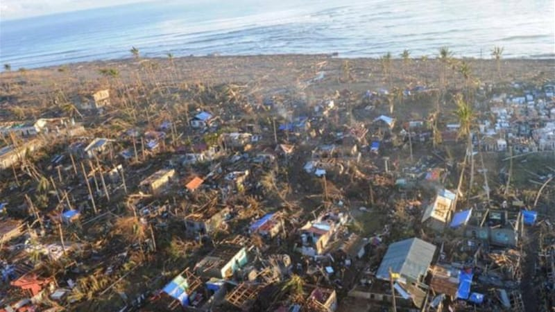 Typhoon Bopha hit the Philippines, taking as many as 600 lives and leaving millions homeless [AFP]