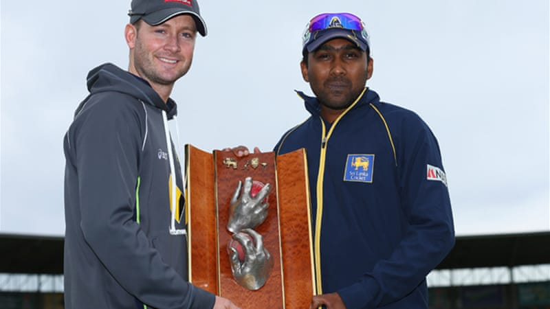 Jayawardene, pictured right with Australian captain Michael Clarke, led Sri Lanka to the 50-overs World Cup final in 2007 and took over the captaincy for a second term in place of Tillakaratne Dilshan earlier this year [GALLO/GETTY]