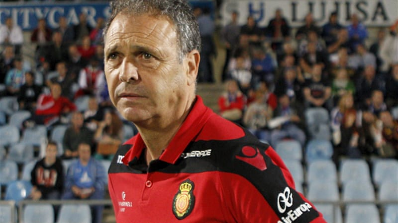 Under pressure: Mallorca coach Joaquin Caparros' position is under scrutiny after his team look set to exit from the Copa Del Rey [EPA]