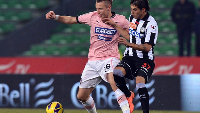 The result leaves struggling Palermo just one point above the relegation zone [EPA]
